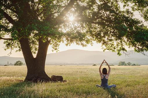 Yoga dans la nature